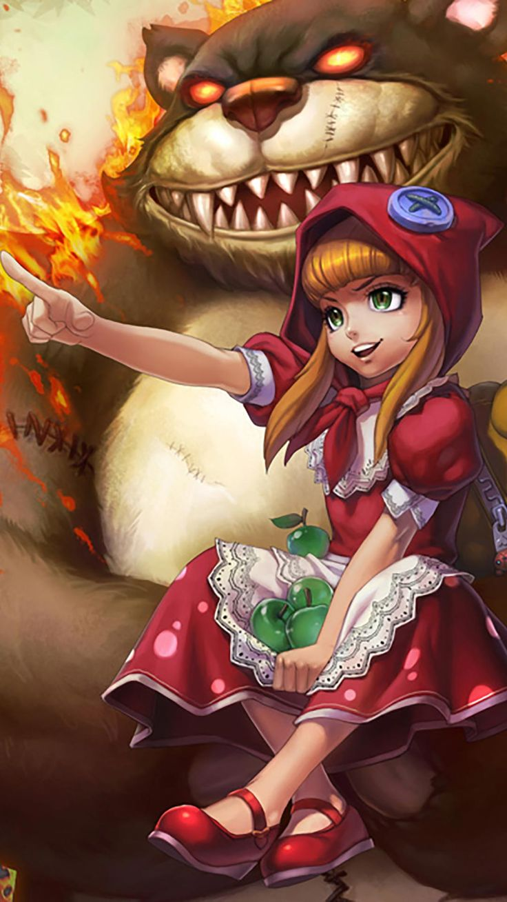 Red Riding Annie Skin android, iphone wallpaper, mobile background