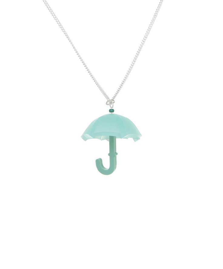 April Showers Umbrella Necklace - Green, £30: http://www.tattydevine.com/april-showers-umbrella-necklace-green