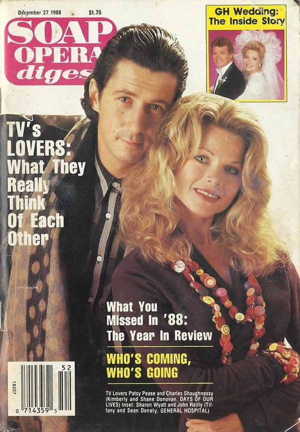 Charles Shaughnessy & Patsy Pease (Shane & Kimberly #DAYS) 12/27/88 http://classicsodcovers.tumblr.com/