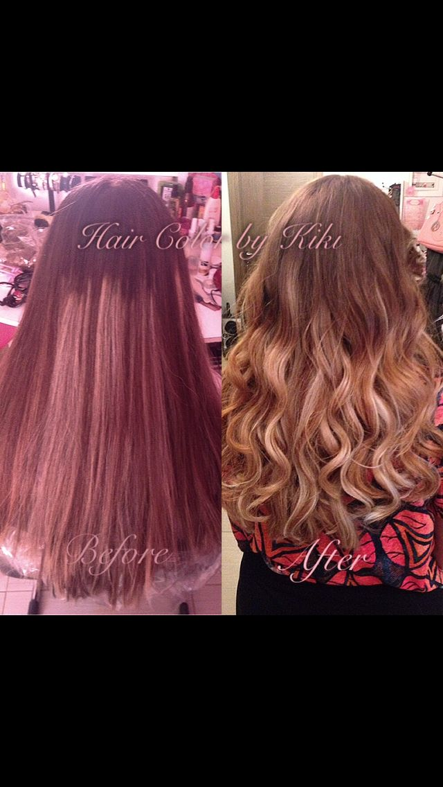 Correction color to Ombre  Long hair  Wave hairstyle  Hairporn/ hairday