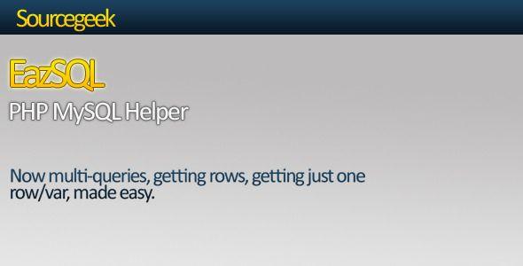 EazSQL - PHP MySQL Helper