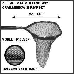 """Tackle Factory Telescoping Poly Crab Net by Tackle Factory. Tackle Factory Telescoping Poly Crab Net. 39-69""""."""