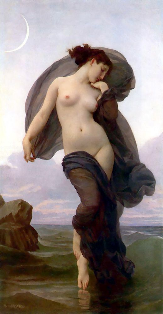 Le Crepuscule, William Adolphe Bouguereau.  Art Experience NYC  www.artexperiencenyc.com