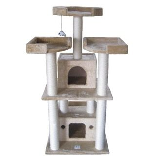 GoPetClub 51-inch Cat Tree Condo - 13314909 - Overstock.com Shopping - The Best Prices on Go Pet Club Cat Furniture