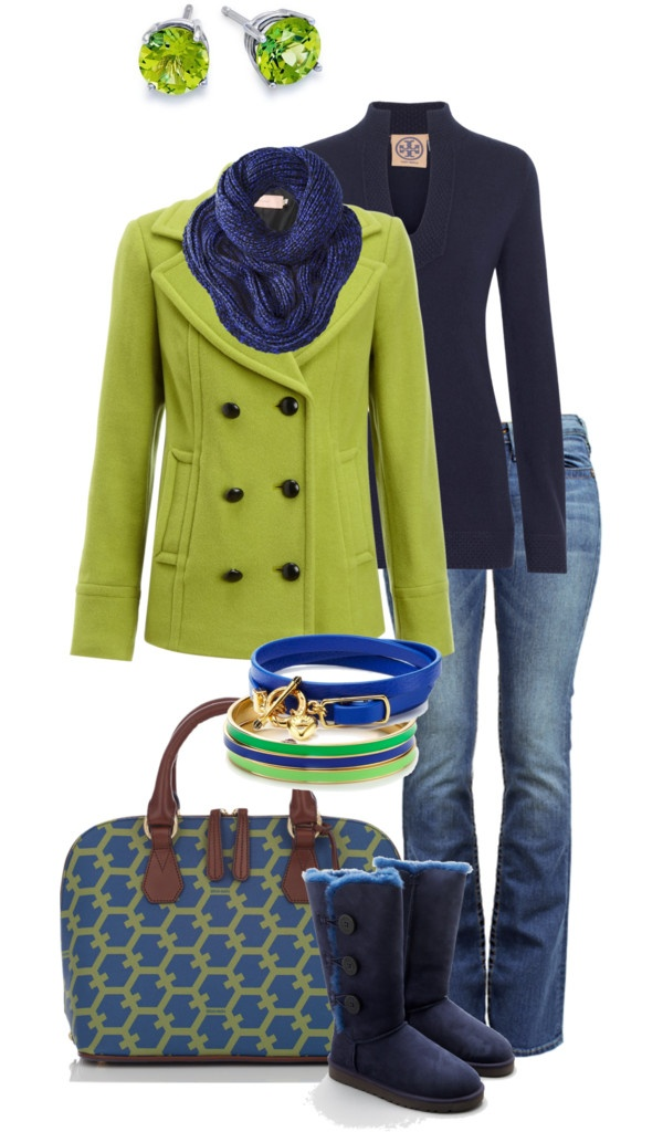 """""""Navy & Lime"""" by simple-wardrobe ❤ liked on Polyvore"""