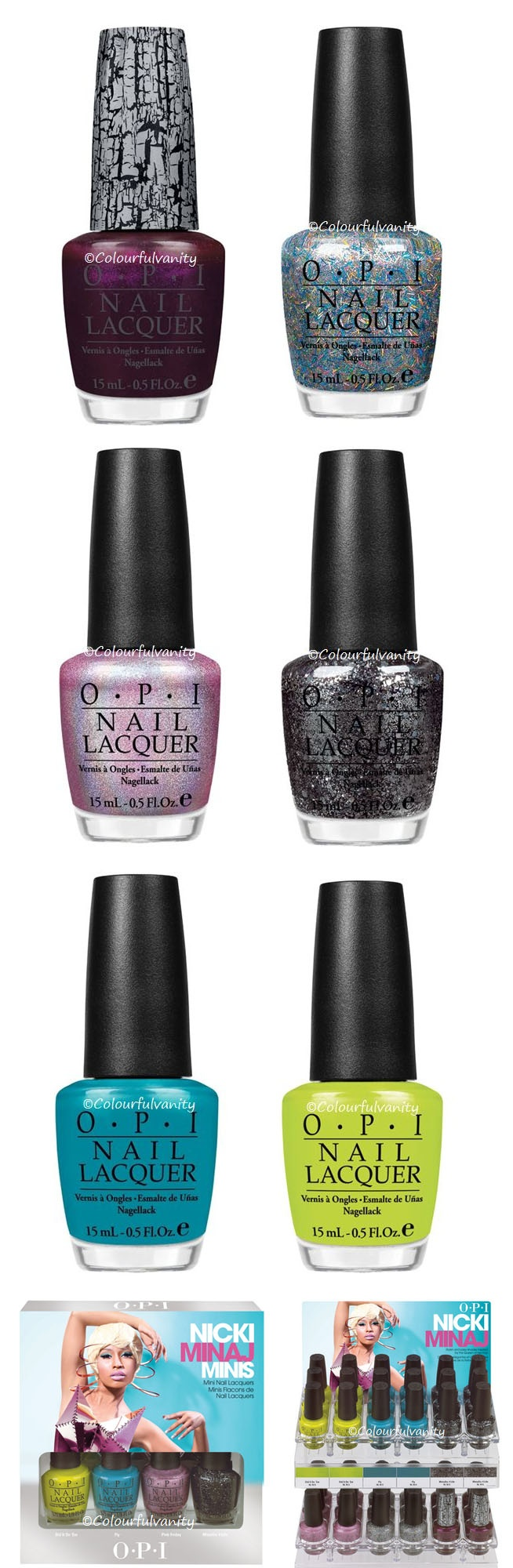 Nicki Minaj OPI! Soooo excited for this to come out next year! Will probably buy the whole line! :)