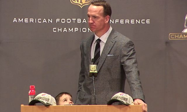 Peyton Manning's adorable son steals the show in Broncos postgame - CBSSports.com