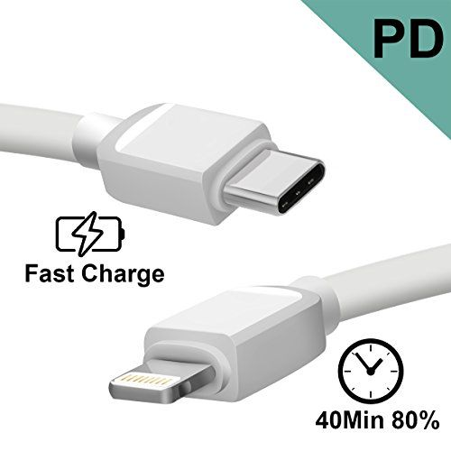 """PD Fast Charging USB C to Lightning Cable 3FT/1M USB Type C to Lightning Cable for iPhone X iPhone 8/8Plus/iPad Pro 10.5"""" with Borrow Electricity Function-Convenient Portable for Travel/Home/Office  https://topcellulardeals.com/product/pd-fast-charging-usb-c-to-lightning-cable-3ft-1m-usb-type-c-to-lightning-cable-for-iphone-x-iphone-8-8plus-ipad-pro-10-5-with-borrow-electricity-function-convenient-portable-for-travel-home-o/  ★FAST CHARGING — Our USB C to lightning"""