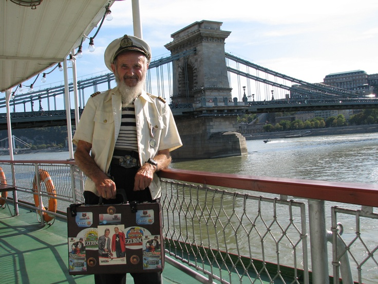 Schönbrunn's (A) 100 years anniversary Budapest Cruise 29. August, 2012. An old sailor visitor.  View photos on our Facebook page https://www.facebook.com/BudapestPocketGuide