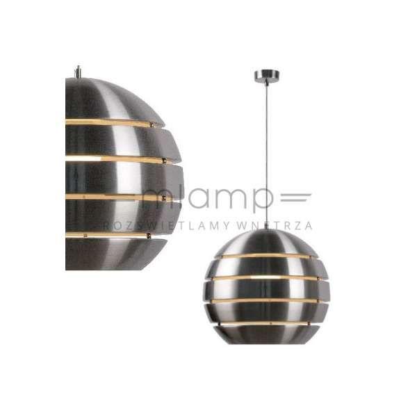 LAMPA wisząca VOLO 17453/40/12 Lucide metalowa OPRAWA zwis paski kula ball satyna