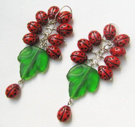 Ladybugs V by woodfairy on Etsy, $11.00