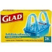 GLAD TALL KIT RECYC 13 GAL BLU Size: 9X26 CT by CLOROX-FIRST BRANDS CORP.. $49.14. GLAD TALL KIT RECYC 13 GAL BLU Size: 9X26 CT