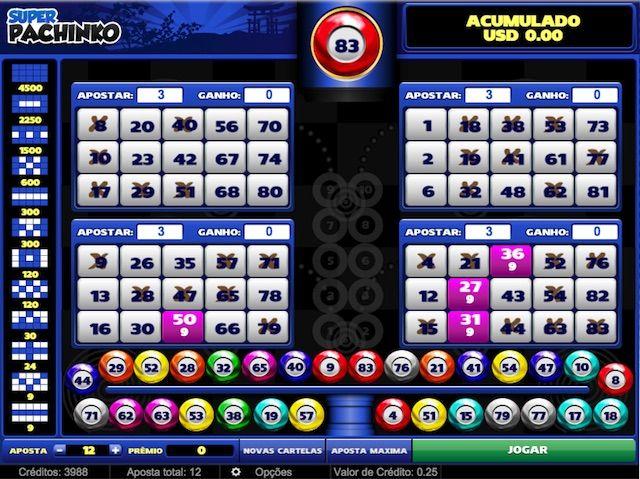Jogar Video bingo Pachinko valendo dinheiro