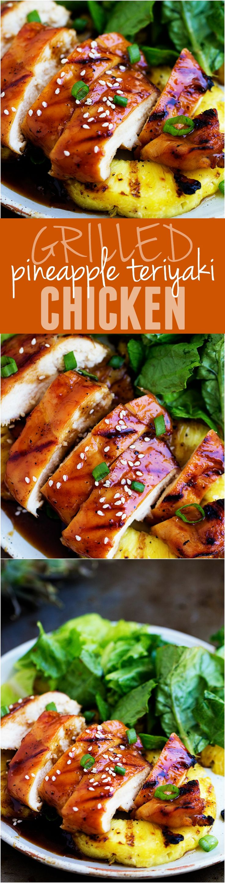This Grilled Pineapple Teriyaki Chicken will be the BEST thing that you grill this summer! One of the best recipes on the blog!