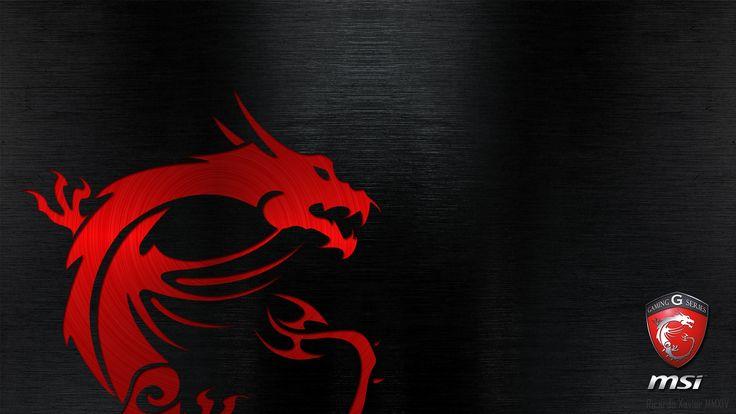 MSI Gaming Wallpaper - red dragon emobossed (1920×1080)