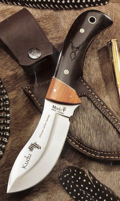 MUELA KUDU Fixed Blade Hunting Knife with Leather Sheath @aegisgears