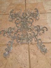 Tienda Online Elegante Piedra de Cristal Claro Parches y Diamantes de Imitación Perlas de Cristal para los Vestidos De Boda, DIY Decorativo Ropa | Aliexpress móvil