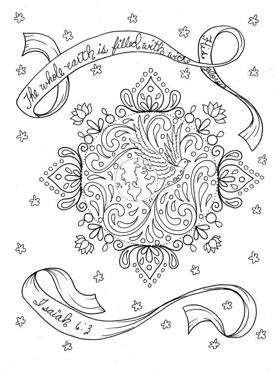 5 Pages of Prayer Mandalas to Color Digital by