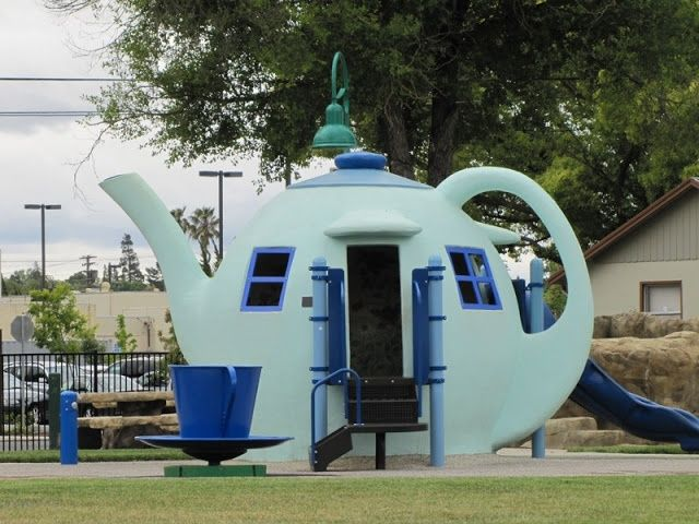 Teapot Playhouse, Children's Wonderland, Vallejo, California. what an amazing place, hit like if love to visit this place. #California #USA #travellandscape You may want to visit this site too! http://www.pinterest.com/travelfoxcom/pins/