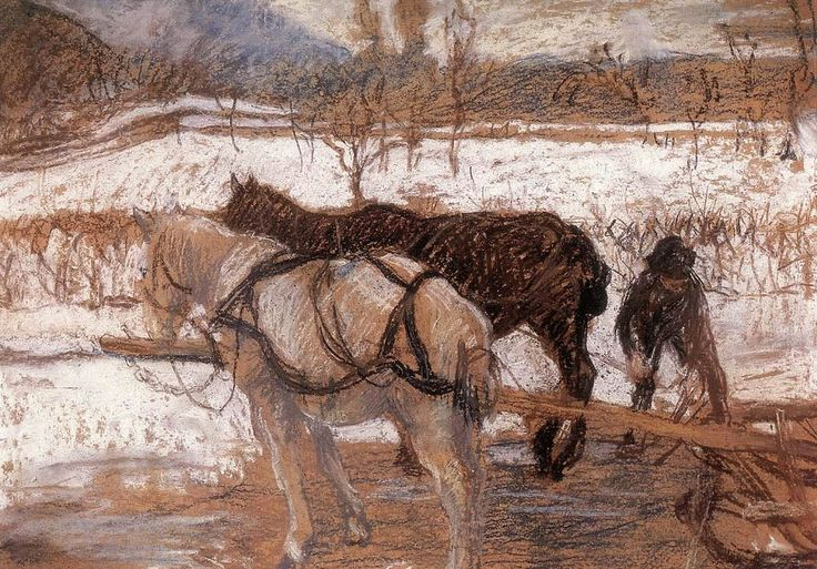 Karoly Ferenczy - ... Ferenczy, Karoly (1862-1917) - 1902 Winter (Private Collection)