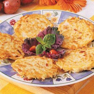 Bacon Potato Pancakes  -  never thought to add bacon to Latkes before!