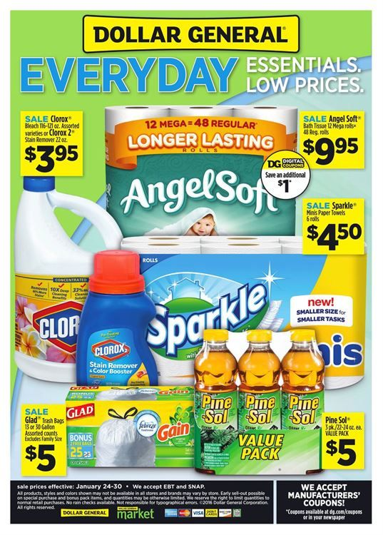 Dollar General Ad January 25 - 31, 2016…