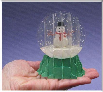 sliceform snow globe pop up card