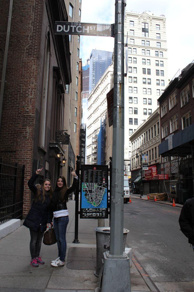 'Let's go Dutch' in Dutch Steet, New York City