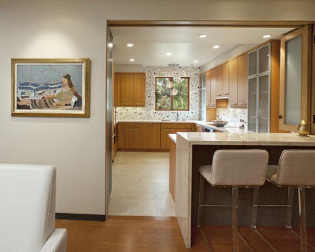 Delightful Montecito Shores Remodel Bifold Door Open   Contemporary   Kitchen   Santa  Barbara   By Allen Associates Bifold Doors Across The Breakfast Bar To Shut  Out ... Part 29