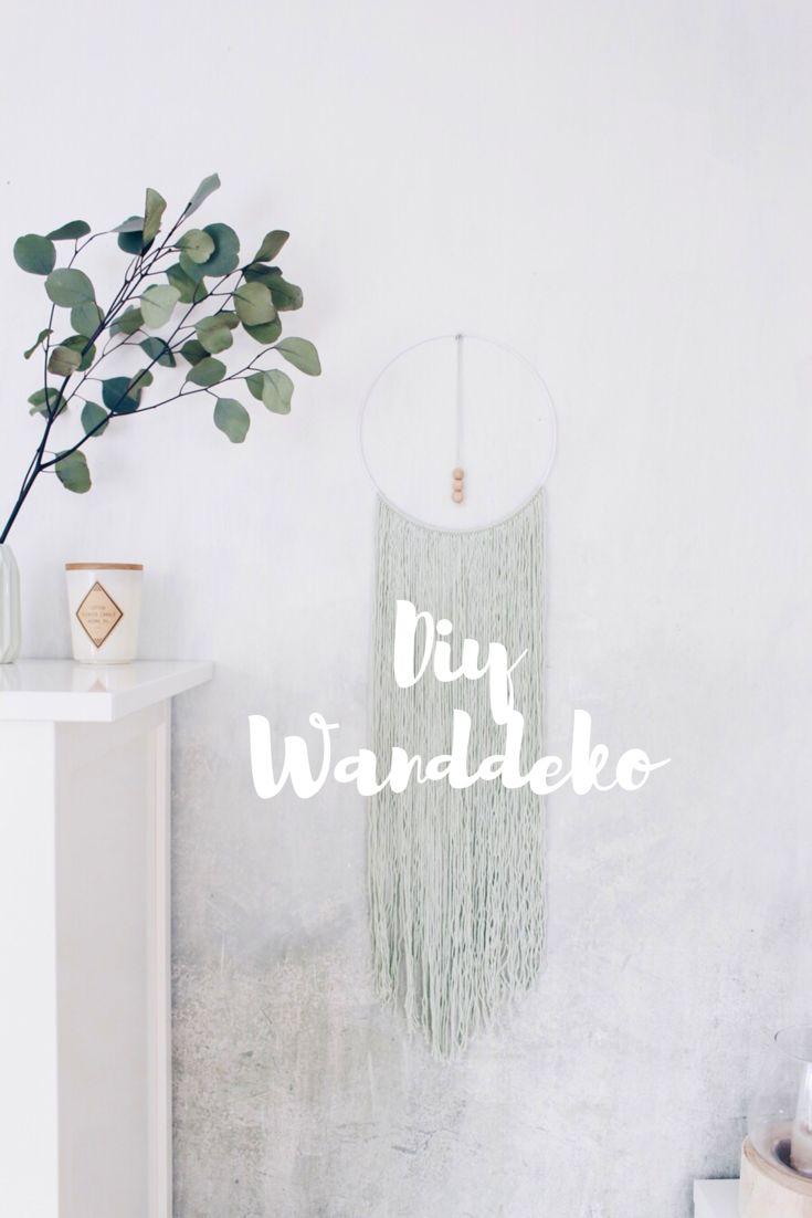 Wanddeko Wandbehang ganz einfach selber machen.