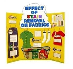 Make a Science Fair Project | Poster Ideas - Stain Removal | Chemistry Project for Kids