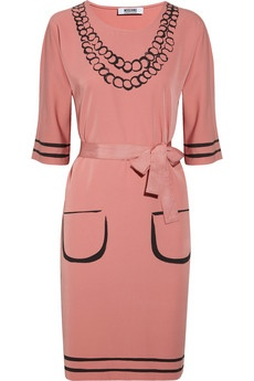 """STYLE DROP """"More Moschino"""" bit.ly/NKj8gP #styledrop #ladies #attire: Trompe L'Oeil, Moschino Cheap, Pink Rose, Jersey Dresses, L Oeil Crepe Jersey, Crepejersey, Belted Trompe"""