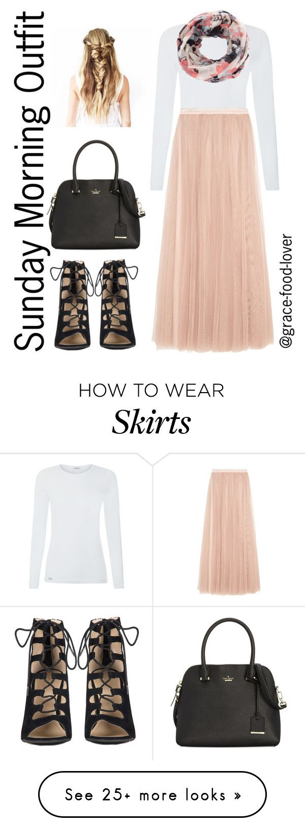"""""""Sunday Morning Outfit"""" by grace-food-lover on Polyvore featuring Needle & Thread, New Look, Kate Spade and GET LOST"""