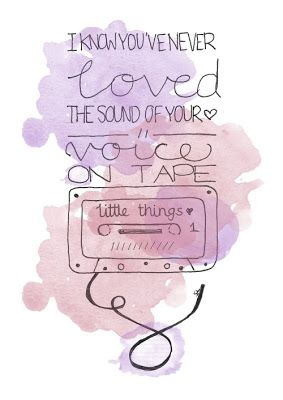 Little Things - One Direction // Hand Lettering and Digital Watercolour