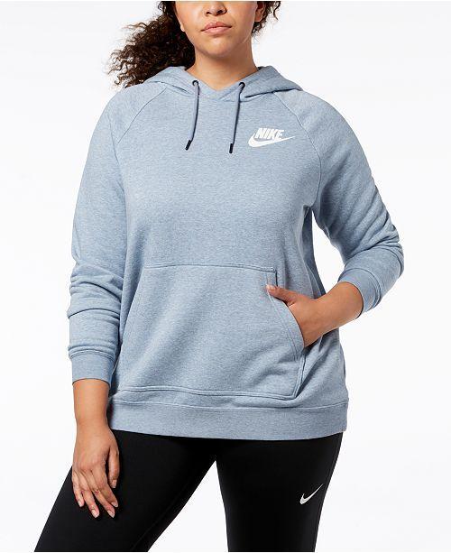 da0663335042 Nike Plus Size Sportswear Rally Fleece Hoodie - Black 2X