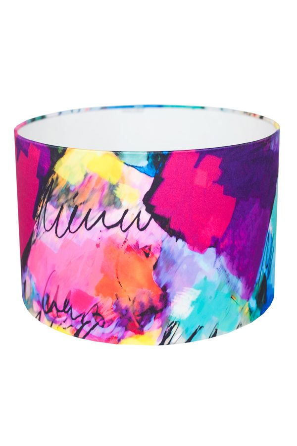 Indulge your senses with this celebration of colour. Our 'Lagoon' lampshade will bring joy and contemporary style to any interior.  FREE DELIVERY IN IRELAND