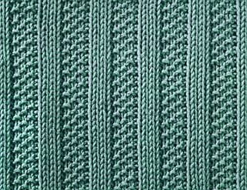 Moss Stitch Rib attern on Knitting Galore at http://dianne-jones.blogspot.ca/2012/08/saturday-stitch-moss-stitch-ribs.html