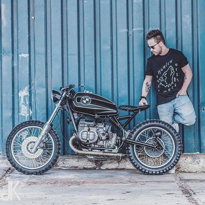 @arjanvandenboom with his BMW #R75 #scrambler shit by @jacksonkunis. So much wow!
