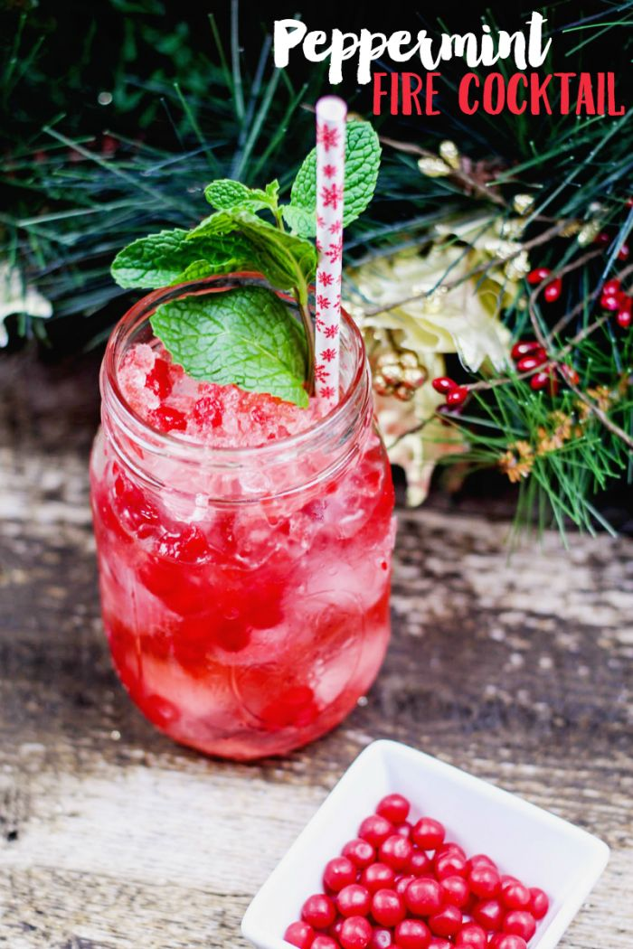 This peppermint cocktail combines Fireball (or cinnamon whiskey) with mint, cinnamon candy, and peppermint vodka for a perfect drink!