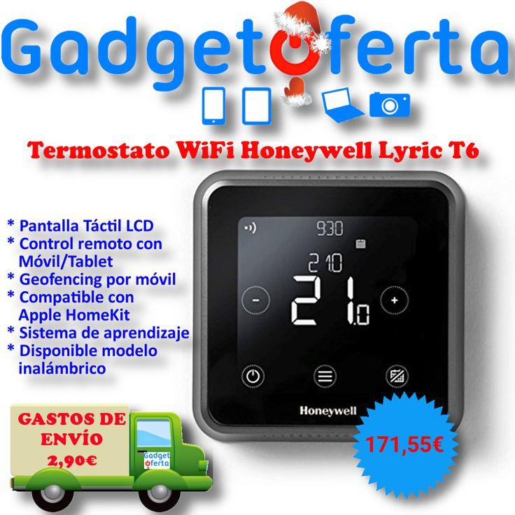 Termostato WiFi #Honeywell Lyric T6. Pantalla táctil LCD, autoaprendizaje y control remoto por smartphone/tablet.