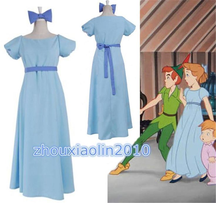 Film Peter pan wendy Rachael Cosplay costume party dress Women Long Dress New | Clothing, Shoes & Accessories, Costumes, Reenactment, Theater, Costumes | eBay!