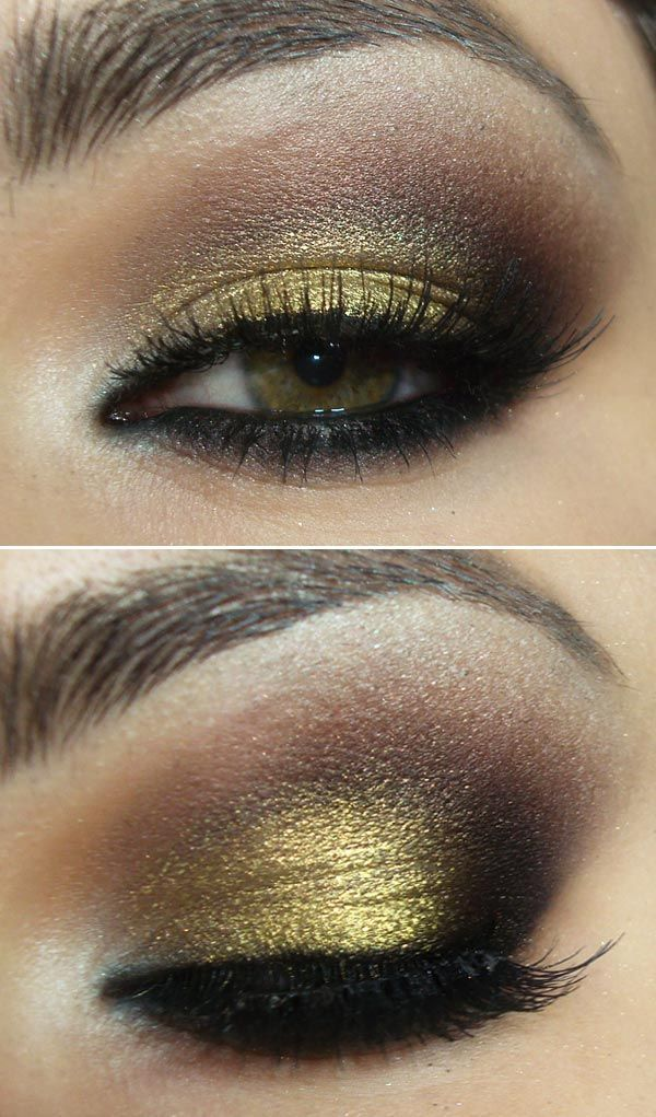 RingMyFashion: Smoky Basic with Gold, Brown, Black and Red Makeup...