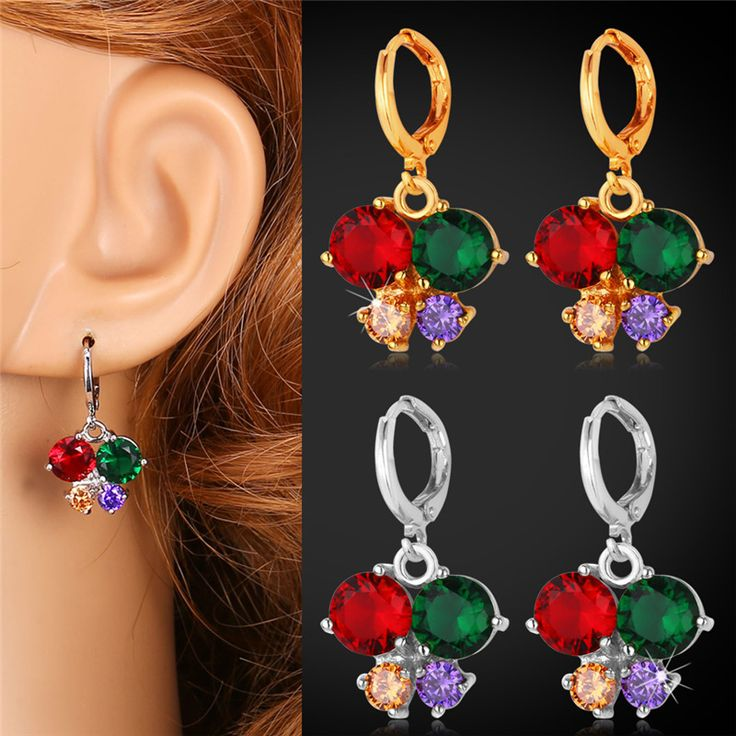 Cheap earrings for women studs, Buy Quality earrings online directly from China earring necklace Suppliers:                     Buy the matching items,please click following pictures:           Multicolor Cubic Zrico