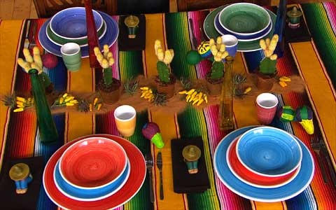 Mexican table setting ~ colores