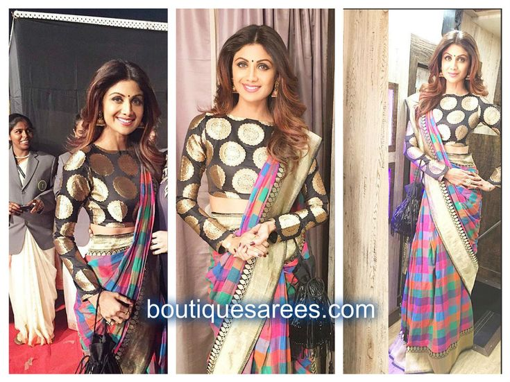 shilpa shetty in manish malhotra saree