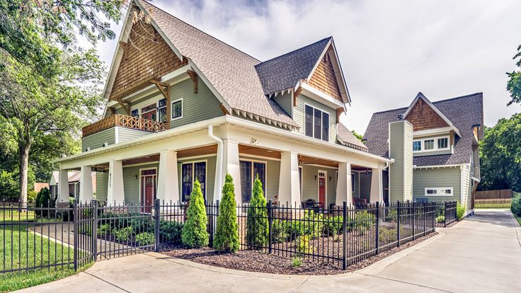 Modern Craftsman Exterior With Sherwin Williams Cajun Red