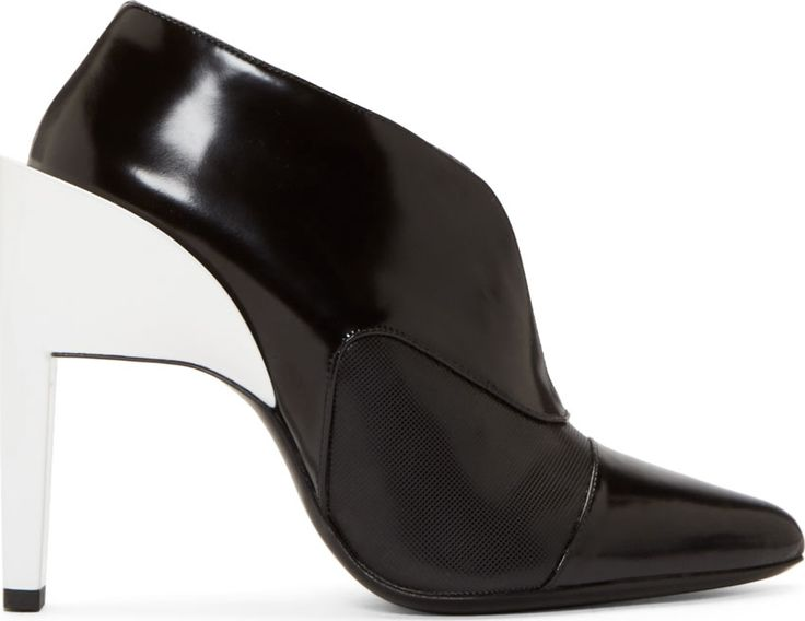 Paco Rabanne Black Contrast Heel Ankle Boots