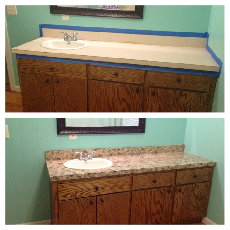 30 best images about countertop makeovers on pinterest - Faux marble bathroom countertops ...