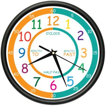 Buy Easy To Read Teacher Wall Clock Elementary Students School Kids Room Gift At Walmart Com Wall Clock Clock Clock For Kids
