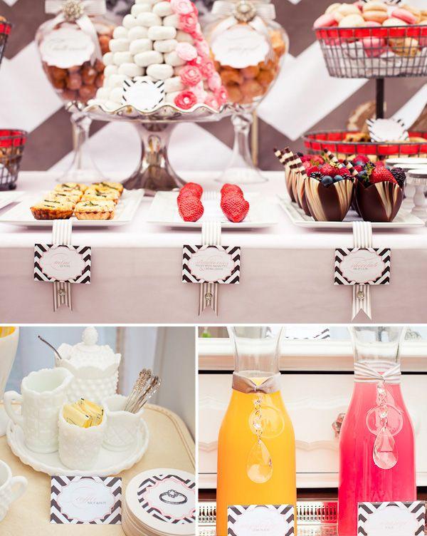 Bridal ShowerShower Ideas, Brunches Bridal, Blowout Parties, Breakfast Theme, Vintage Bridal, Brunches Parts, Vintage Modern, Bridal Brunches, Bridal Showers